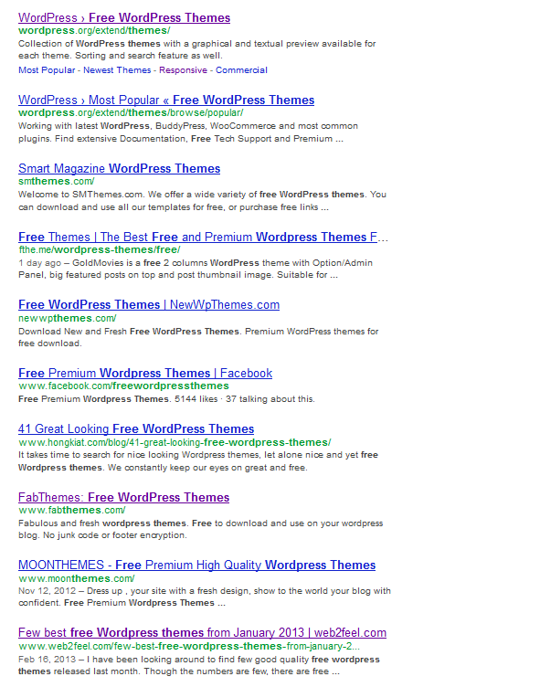 WordPress Free Themes - don\'t use them