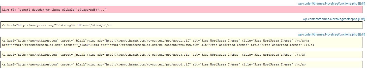 WordPress Free Themes - don\'t use them