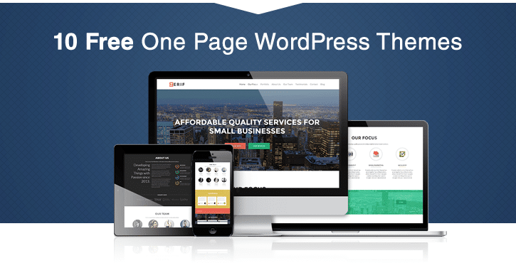30+ Best Free One Page WordPress Themes in 2018
