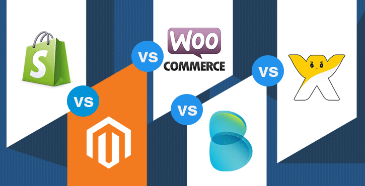 Shopify vs Magento vs WooCommerce vs Bigcommerce vs Wix