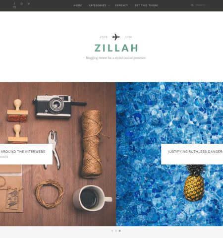 Best free blogging WordPress themes #1: Zillah