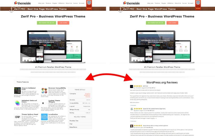 WordPress-reviews
