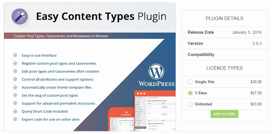 easy content types plugin