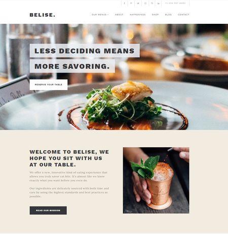 20 best restaurant wordpress themes