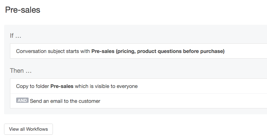 HelpScout workflow