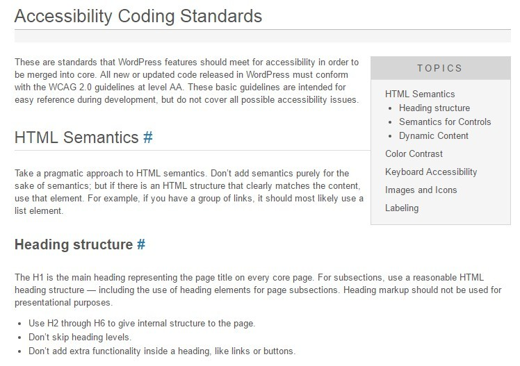 accessibility coding standards