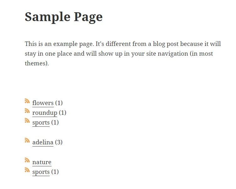 category poage demo