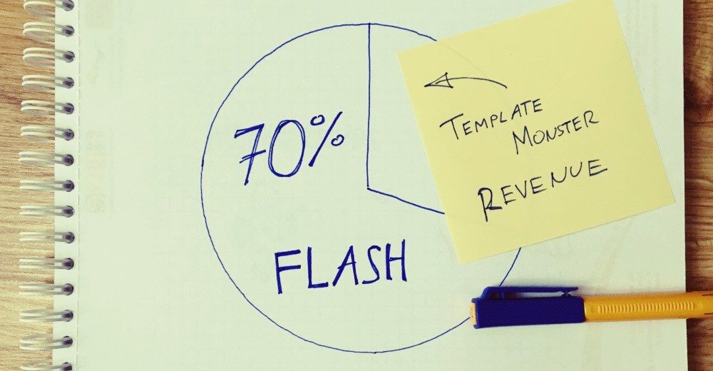 70% of TemplateMonster's revenue was generated by Flash