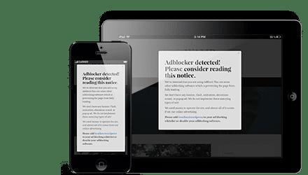 adblock notify responsive