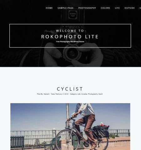 RokoPhoto Lite - one of the best free photography WordPress themes