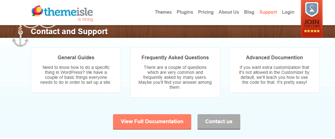 ThemeIsle contact page