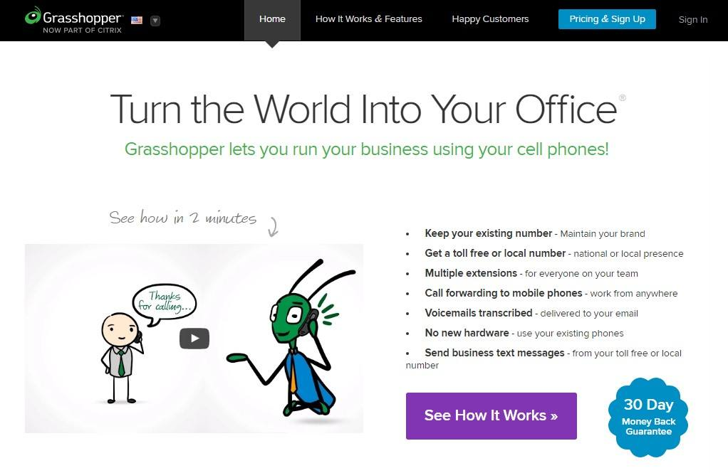 Grasshopper 1-800 toll free numbers