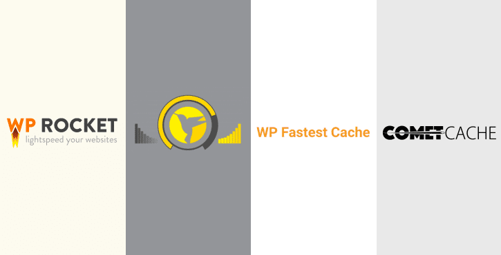 WP Rocket vs Hummingbird vs WP Fastest Cache vs Comet Cache