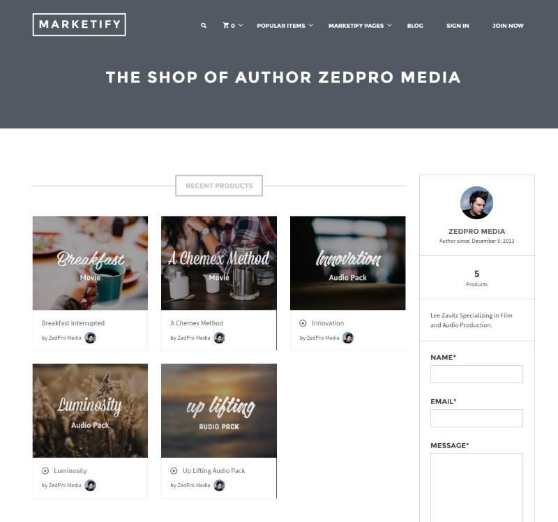 best ecommerce multivendor platforms: Marketify listing