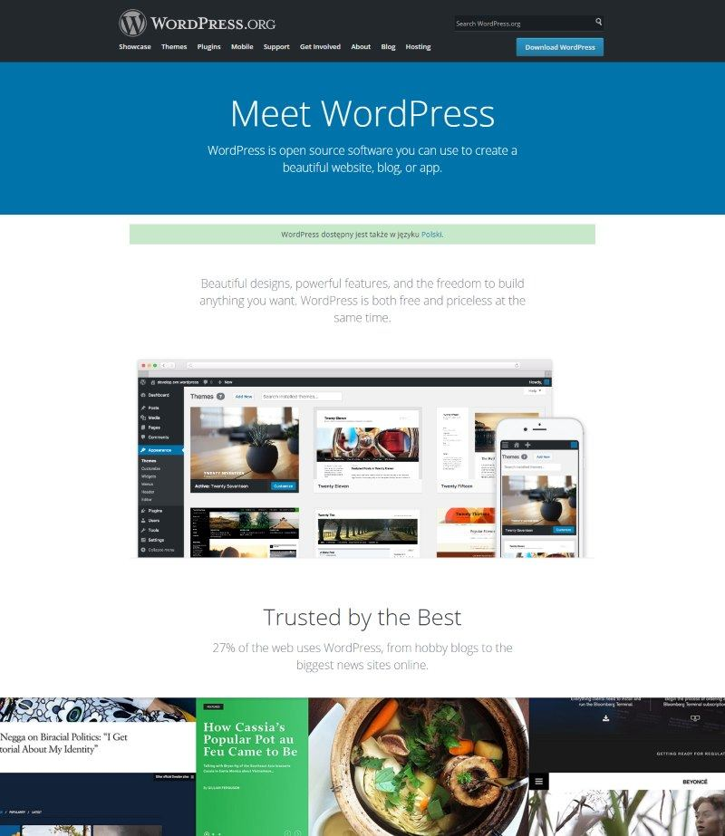 December 2016 WordPress News: WordPress homepage