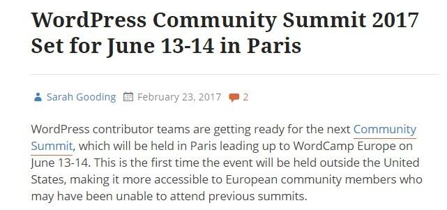 wordpress community summit 2017