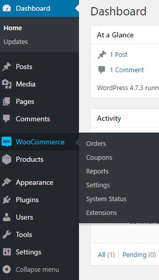 WooCommerce sidebar