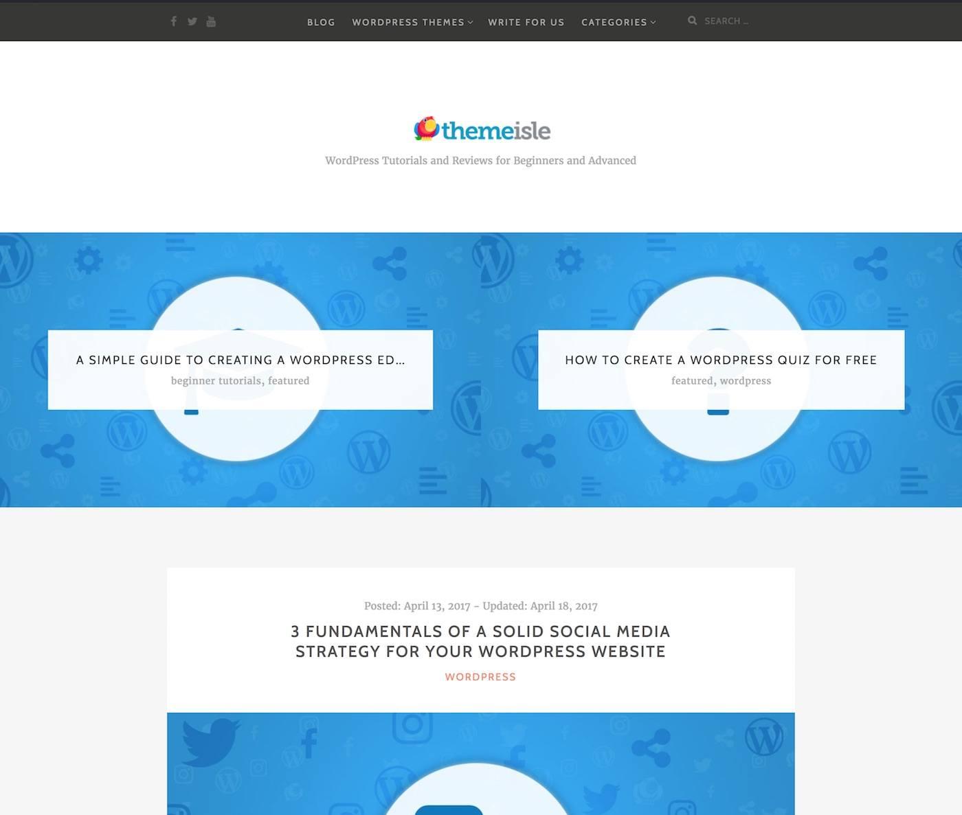 ThemeIsle blog