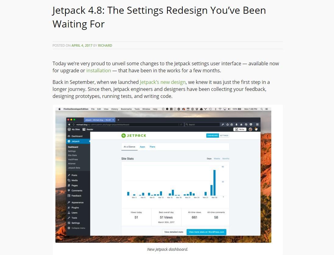 Jetpack redesign