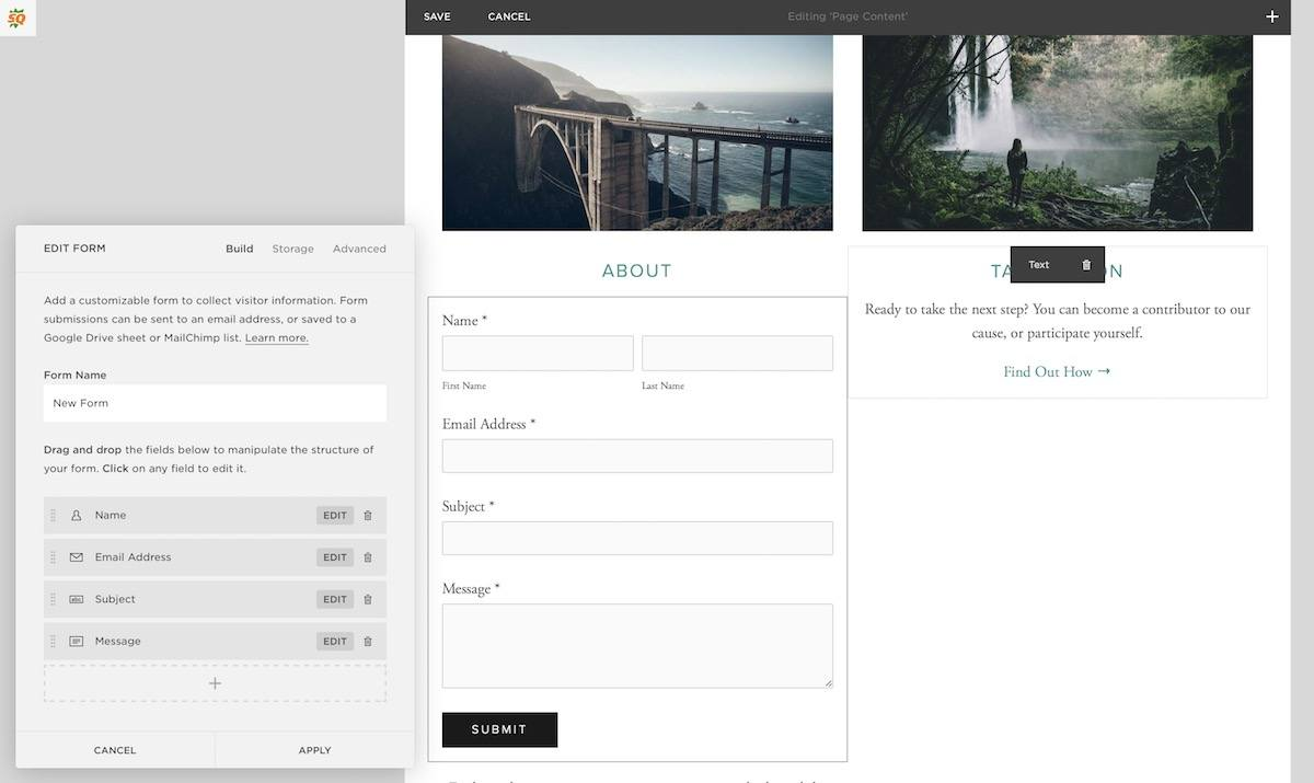 Squarespace element customizer