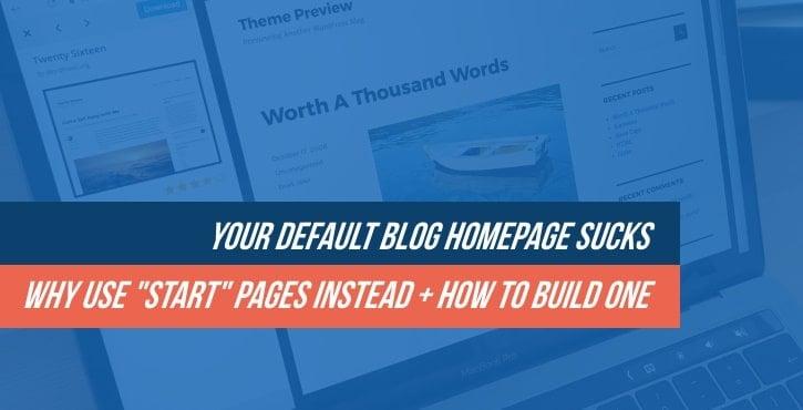 WordPress blog homepage