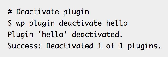 WP-CLI plugin