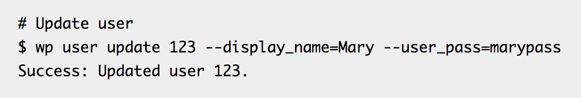 WP-CLI user