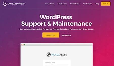 WordPress maintenance company #1: WP Team Support