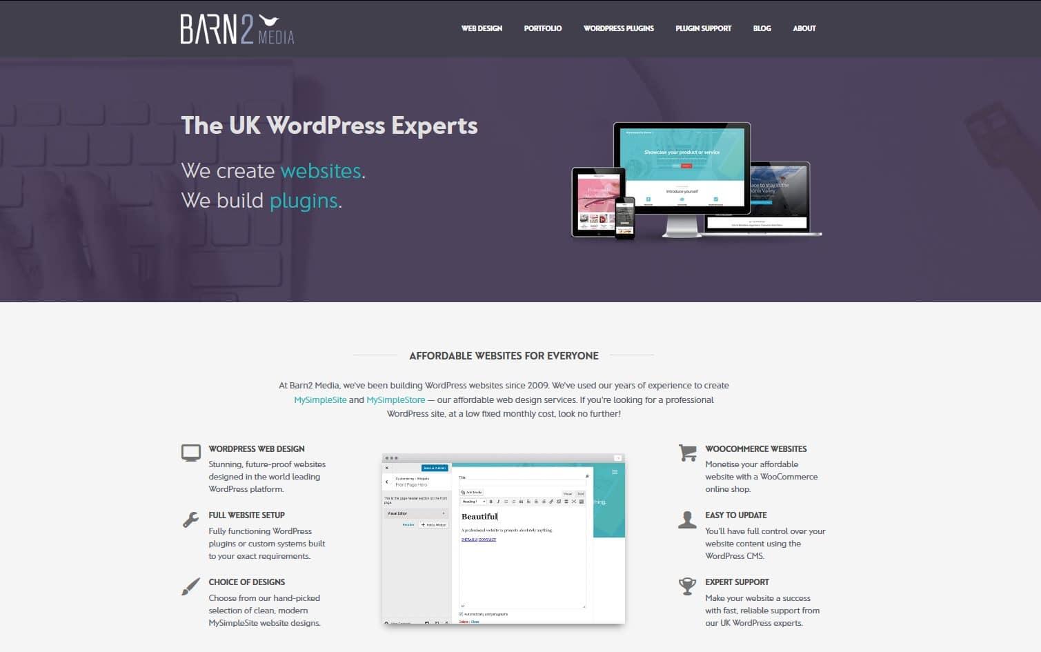 Barn2 Media landing page