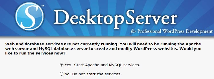 Using DesktopServer.