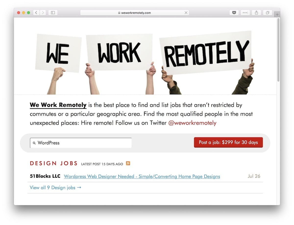 20 Sites to Find Remote WordPress Jobs + 5 Companies Hiring Now