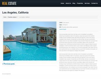 white real estate post