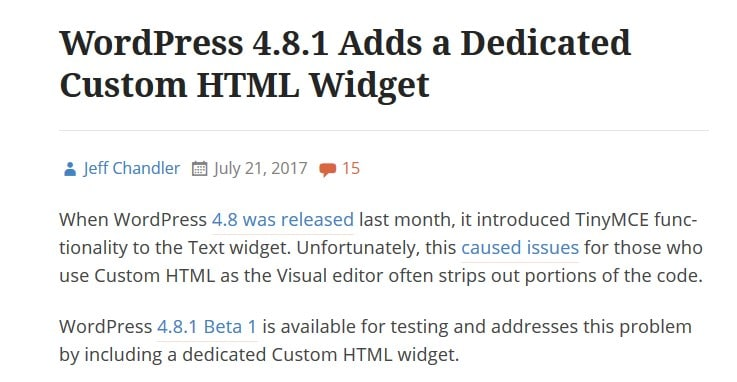 July 2017 WordPress News: WordPress 4.8.1