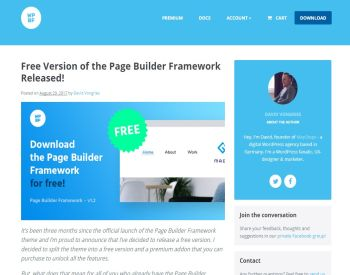 page builder post