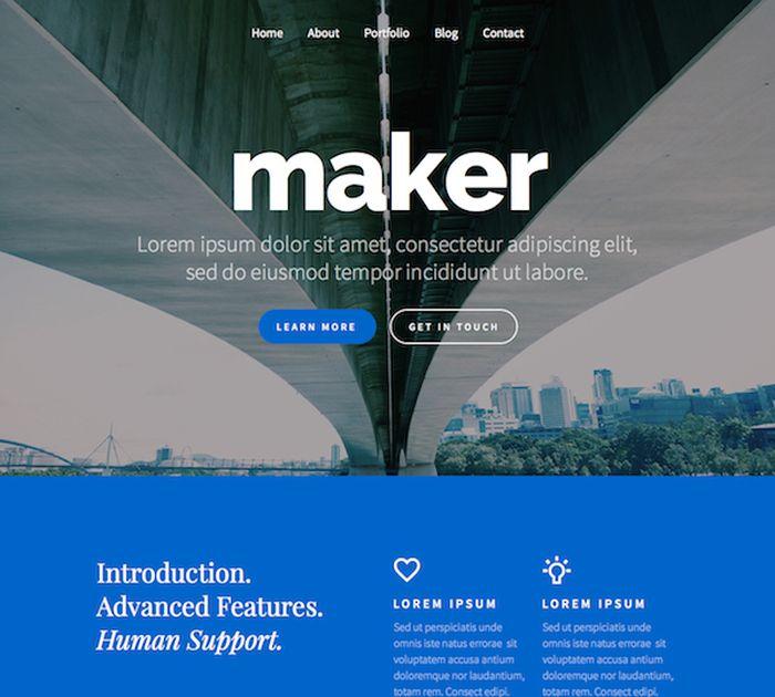 modern homepages