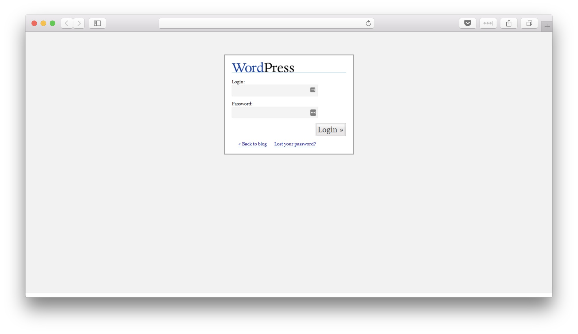 WordPress 1.5 login