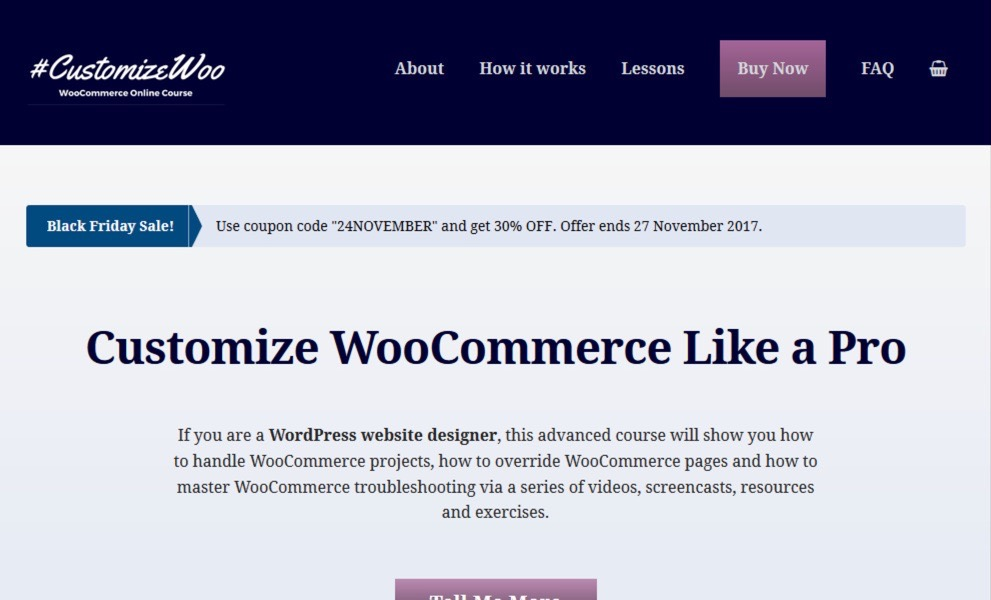 CustomizeWoo Online Course