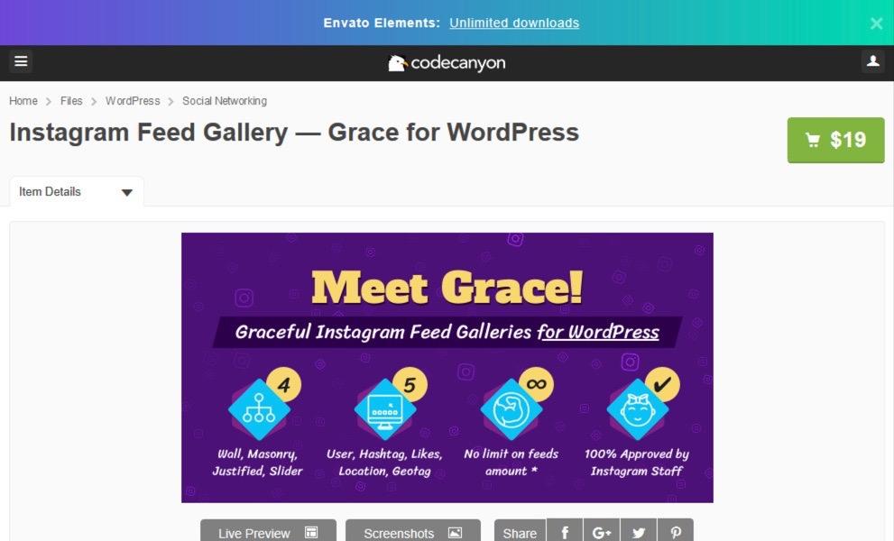 Instagram Feed Gallery plugin