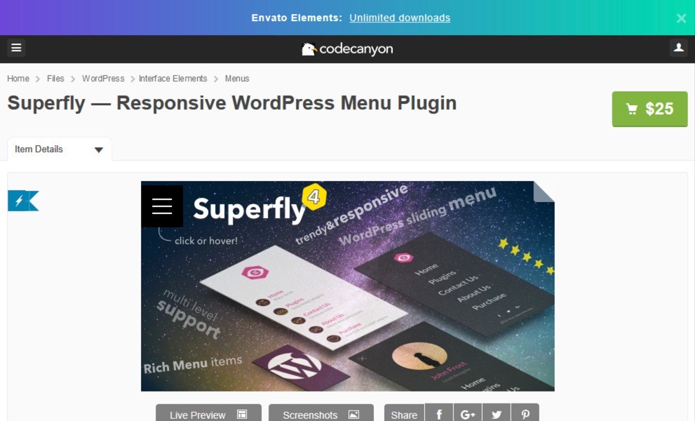 Responsive WordPress Menu plugin