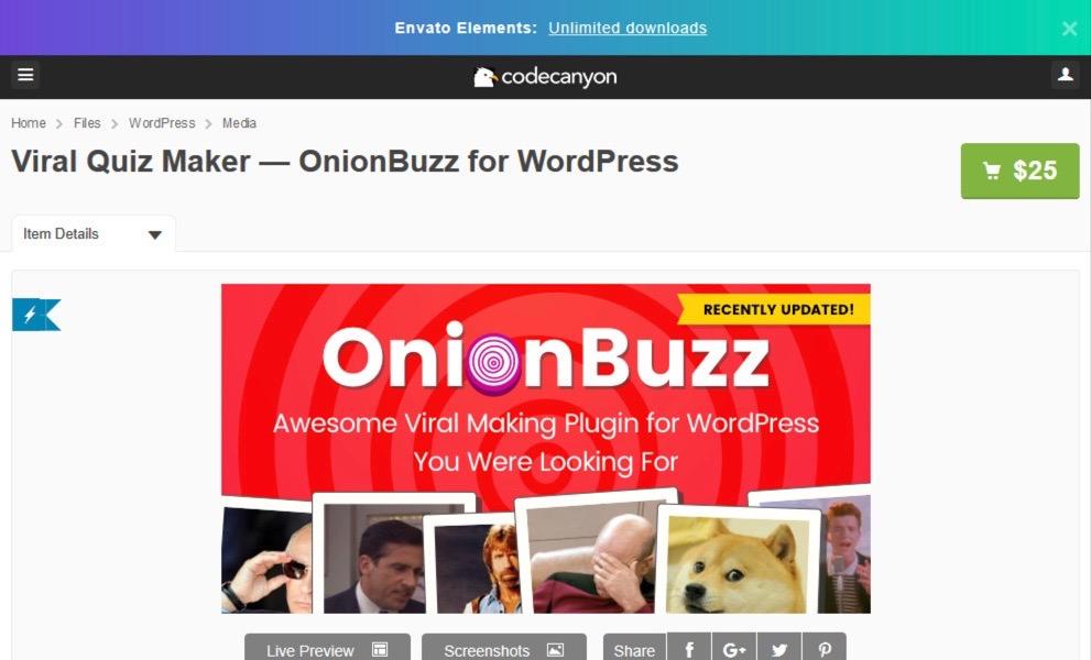 Viral Quiz Maker plugin