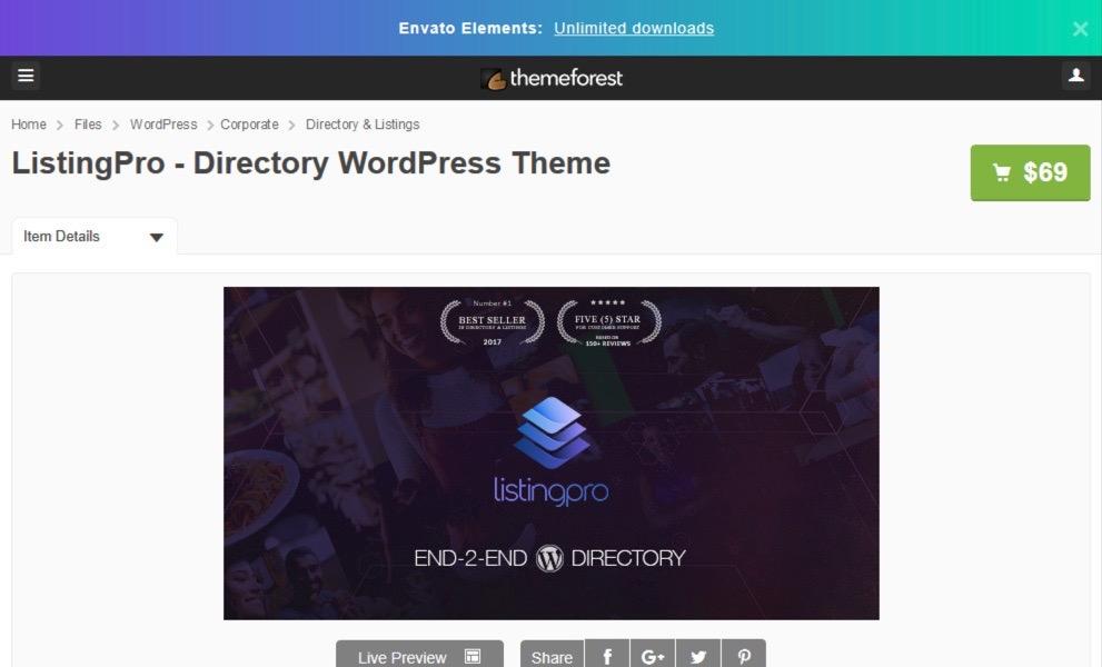 Directory WordPress Theme by Cridio