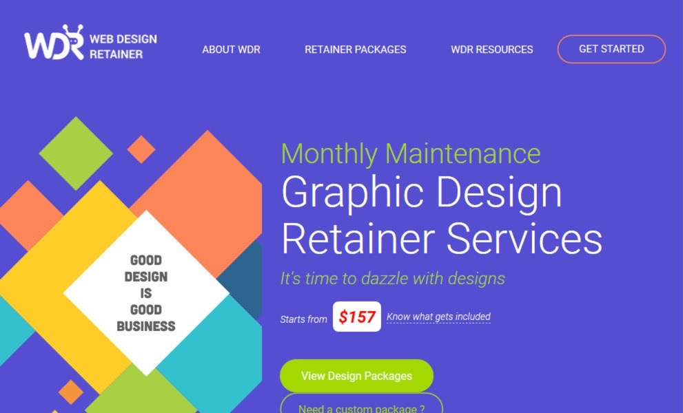 WebDesignRetainer.com - Graphic Design Packages