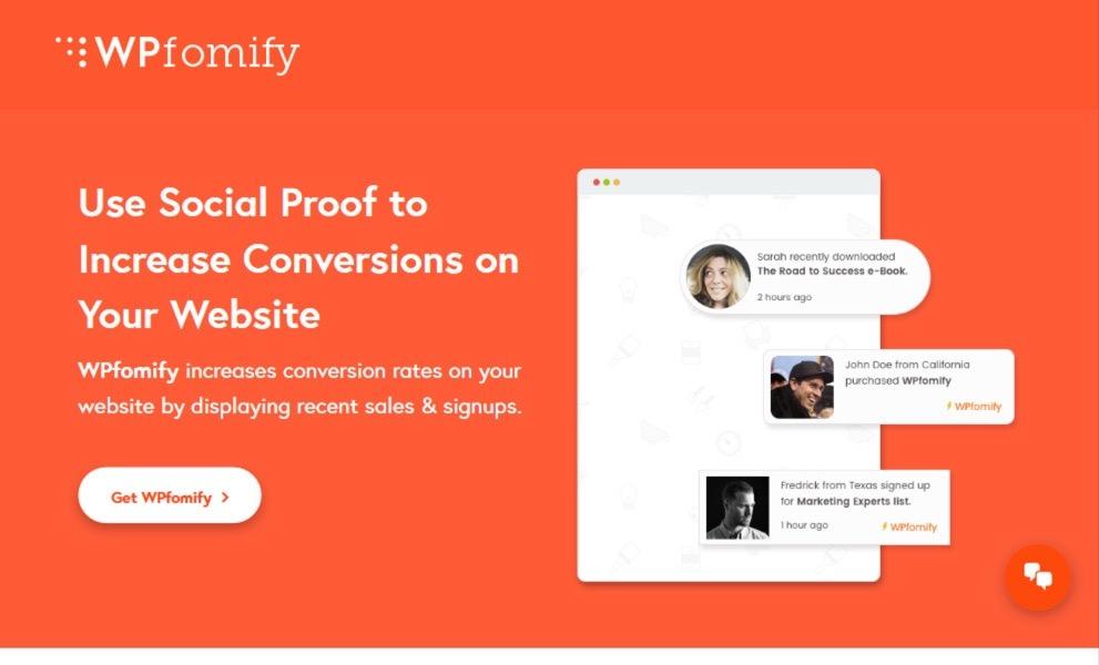 WPfomify - Social Proof Marketing