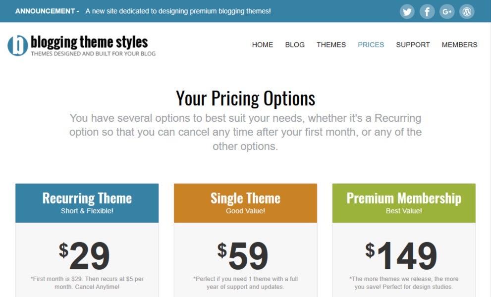 Blogging Theme Styles