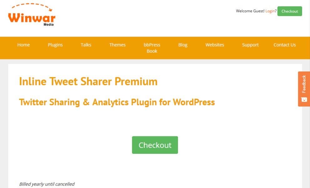 Inline Tweet Sharer Premium