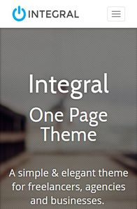 Integral on mobile