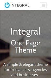 Integral on mobile