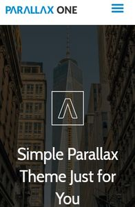 Parallax One on mobile