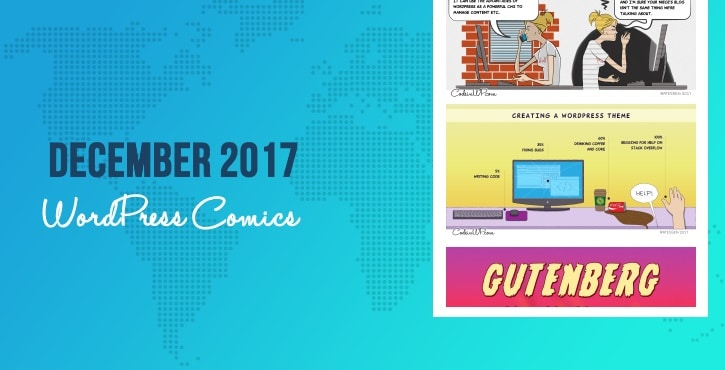 December 2017 WordPress comics