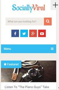 SociallyViral on mobile